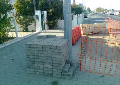 Levantamento, reperfilamento e Reposição de Calçadas